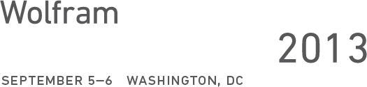 Wolfram Data Summit 2013—September 5–6—Washington, DC